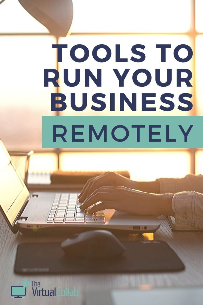 Working online - tools to run your business remotely.