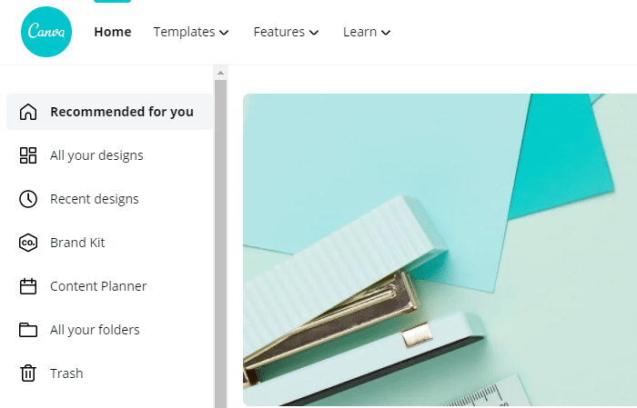 screenshot of the content planner feature in Canva