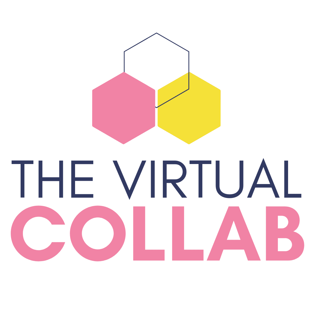 3 hexagons with the words The Virtual Collab